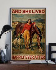 Horse And Girl Live Happily 2 24x36 Poster lifestyle-poster-2