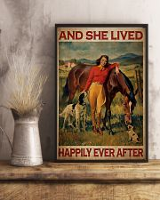 Horse And Girl Live Happily 2 24x36 Poster lifestyle-poster-3