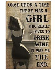 Girl Drank Wine Vertical Poster tile