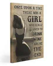 Girl Drank Wine 20x30 Gallery Wrapped Canvas Prints thumbnail