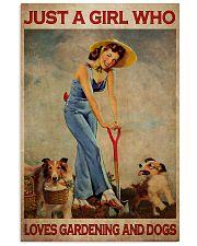 Just A Girl Loves Gardening 24x36 Poster front