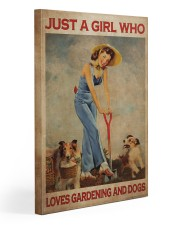 Just A Girl Loves Gardening 20x30 Gallery Wrapped Canvas Prints thumbnail