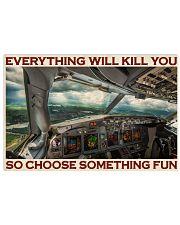 Aviation Pilot Choose Something Fun 36x24 Poster front