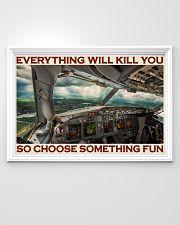 Aviation Pilot Choose Something Fun 36x24 Poster poster-landscape-36x24-lifestyle-02