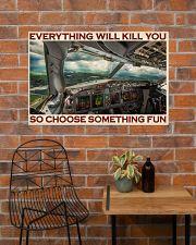 Aviation Pilot Choose Something Fun 36x24 Poster poster-landscape-36x24-lifestyle-20