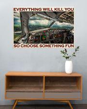 Aviation Pilot Choose Something Fun 36x24 Poster poster-landscape-36x24-lifestyle-21