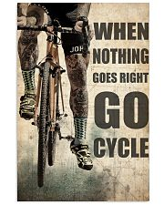 Tattoo Cyclist Go Right Go Cycle  24x36 Poster front