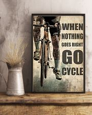 Tattoo Cyclist Go Right Go Cycle  24x36 Poster lifestyle-poster-3