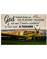 Crop Duster God Made A Farmer 36x24 Poster front