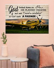 Crop Duster God Made A Farmer 36x24 Poster poster-landscape-36x24-lifestyle-18