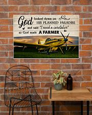 Crop Duster God Made A Farmer 36x24 Poster poster-landscape-36x24-lifestyle-20