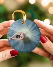 Ballet Girl 2 Circle ornament - single (porcelain) aos-circle-ornament-single-porcelain-lifestyles-08