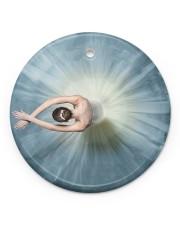 Ballet Girl 2 Circle ornament - single (porcelain) front