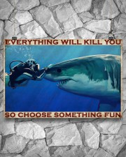 Scuba Diving Be Brave 2 36x24 Poster aos-poster-landscape-36x24-lifestyle-12