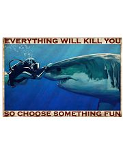 Scuba Diving Be Brave 2 36x24 Poster front