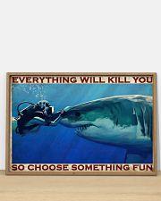 Scuba Diving Be Brave 2 36x24 Poster poster-landscape-36x24-lifestyle-03