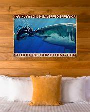 Scuba Diving Be Brave 2 36x24 Poster poster-landscape-36x24-lifestyle-23