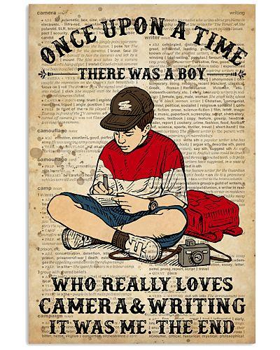 Camera And Writing Boy