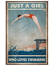Just A Girl Who Loves Swimming 24x36 Poster front