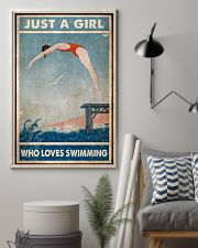 Just A Girl Who Loves Swimming 24x36 Poster lifestyle-poster-1