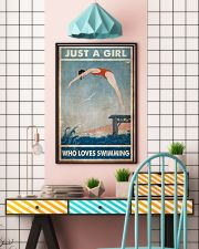 Just A Girl Who Loves Swimming 24x36 Poster lifestyle-poster-6