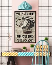 Cycling Your Legs Will Follow 24x36 Poster lifestyle-poster-6