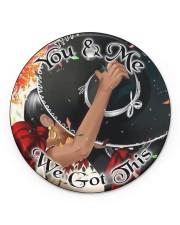 Mexican Couple We Got This  Circle ornament - single (porcelain) front