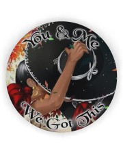 Mexican Couple We Got This  Circle ornament - single (wood) thumbnail
