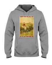 Fox Hunting Choose Something Fun Hooded Sweatshirt thumbnail