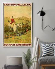 Fox Hunting Choose Something Fun 24x36 Poster lifestyle-poster-1