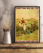 Fox Hunting Choose Something Fun 24x36 Poster lifestyle-poster-3