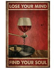 Wine And Vinyl Lose Your Mind Vertical Poster tile