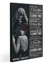 Sugar Skull I Love You Gallery Wrapped Canvas Prints tile
