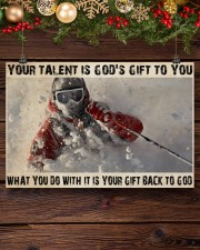 Skier God's Gift To You 36x24 Poster aos-poster-landscape-36x24-lifestyle-24