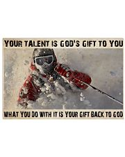 Skier God's Gift To You 36x24 Poster front