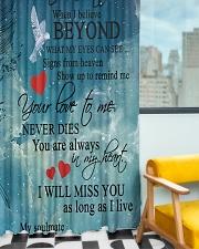 To My Angel Husband Window Curtain - Blackout aos-window-curtains-blackout-50x84-lifestyle-front-01