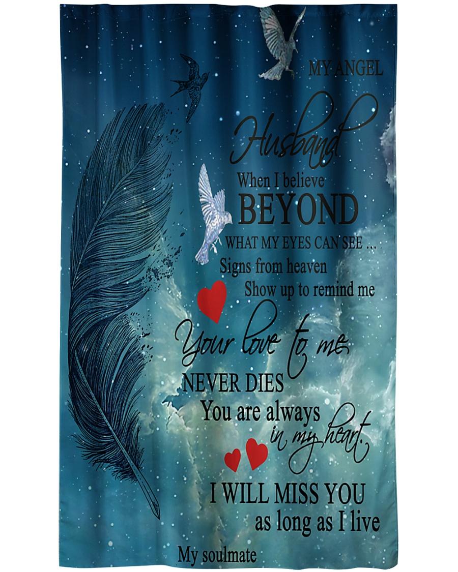 To My Angel Husband Window Curtain - Blackout