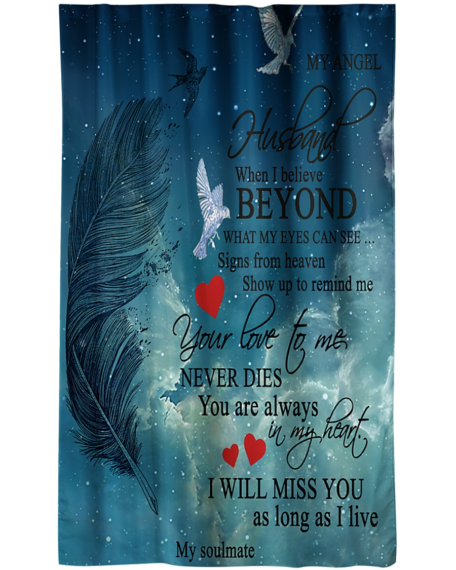 To My Angel Husband Window Curtain - Sheer