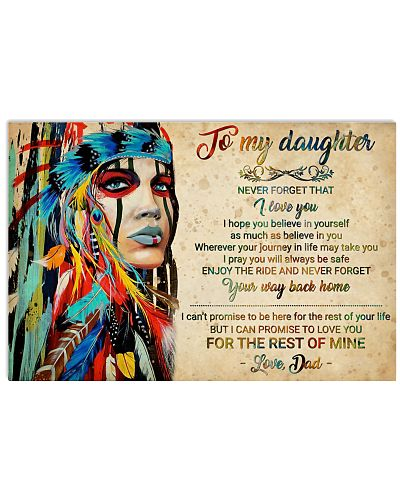 Native American Girl To My Daughter