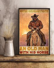 Old Man With His Horse 24x36 Poster lifestyle-poster-3