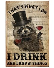 Raccoon I Drink And I Know Things 24x36 Poster front