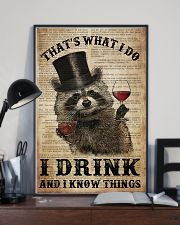 Raccoon I Drink And I Know Things 24x36 Poster lifestyle-poster-2