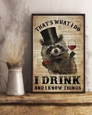 Raccoon I Drink And I Know Things 24x36 Poster lifestyle-poster-3