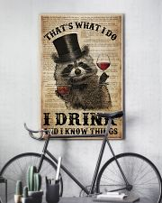 Raccoon I Drink And I Know Things 24x36 Poster lifestyle-poster-7