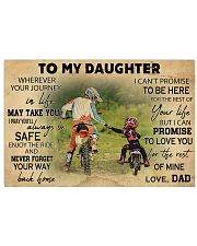 Motorcycle To My Daughter  36x24 Poster front