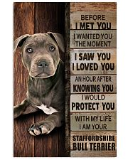 Blue Staffy Before I Met You 24x36 Poster front