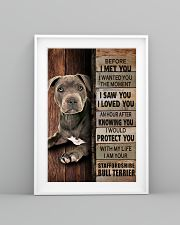 Blue Staffy Before I Met You 24x36 Poster lifestyle-poster-5