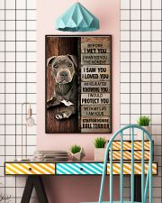 Blue Staffy Before I Met You 24x36 Poster lifestyle-poster-6