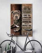 Blue Staffy Before I Met You 24x36 Poster lifestyle-poster-7