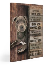 Blue Staffy Before I Met You Gallery Wrapped Canvas Prints tile